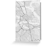 Stockholm, Sweden Map. (Black on white) Greeting Card