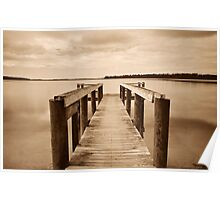Old Jetty in sepia............  Poster