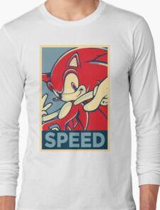 Sonic the Hedgehog V2 (Obama Hope Poster Parody) Long Sleeve T-Shirt