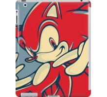 Sonic the Hedgehog V2 (Obama Hope Poster Parody) iPad Case/Skin