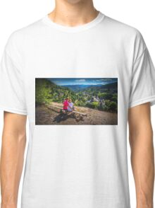 Bench with a the village view - Spania Dolina Classic T-Shirt