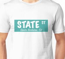 State Street Sign- Teal Blue Unisex T-Shirt
