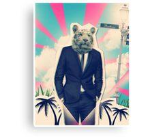 Tiger,suit & tie Canvas Print