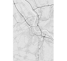 Basel, Switzerland Map. (Black on white) Photographic Print