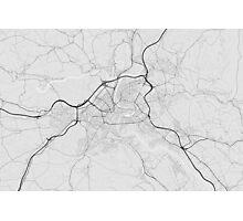 Bern, Switzerland Map. (Black on white) Photographic Print
