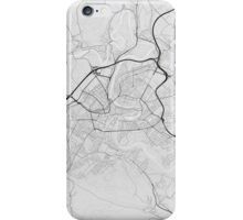 Bern, Switzerland Map. (Black on white) iPhone Case/Skin