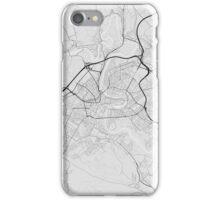 Bern, Switzerland Map. (Black on white) iPhone Case/Skin