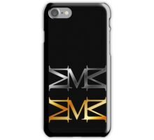 Alphabet M logo in gold and silver  iPhone Case/Skin