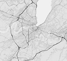 Geneva, Switzerland Map. (Black on white) by Graphical-Maps