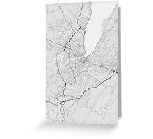 Geneva, Switzerland Map. (Black on white) Greeting Card