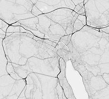 Zurich, Switzerland Map. (Black on white) by Graphical-Maps