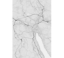 Zurich, Switzerland Map. (Black on white) Photographic Print