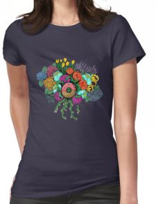 Bouquet fit for me: Doughnut Womens Fitted T-Shirt