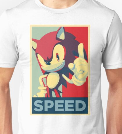 Sonic the Hedgehog -- Obama Hope Poster Parody Unisex T-Shirt