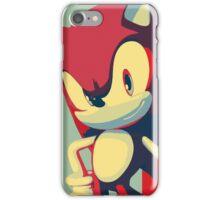 Sonic the Hedgehog -- Obama Hope Poster Parody iPhone Case/Skin
