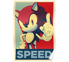 Sonic the Hedgehog -- Obama Hope Poster Parody Poster