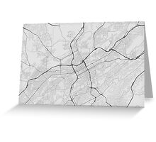 Birmingham, USA Map. (Black on white) Greeting Card