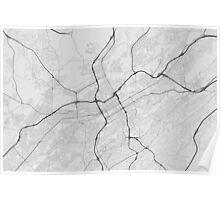 Birmingham, USA Map. (Black on white) Poster