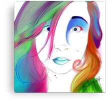 Zoe Colegrove - Self Portrait Canvas Print