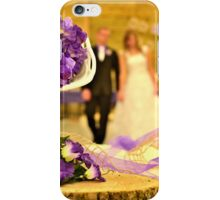 The Joyful Wedding Day iPhone Case/Skin