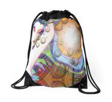 #*Naked Girl Time Travelling#* Drawstring Bag