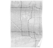 Phoenix, USA Map. (Black on white) Poster