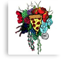 Bouquet fit for me:Pizza Canvas Print