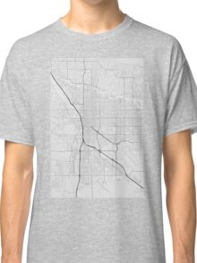 Tucson, USA Map. (Black on white) Classic T-Shirt