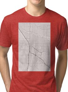 Tucson, USA Map. (Black on white) Tri-blend T-Shirt