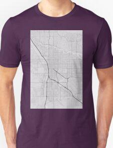 Tucson, USA Map. (Black on white) Unisex T-Shirt