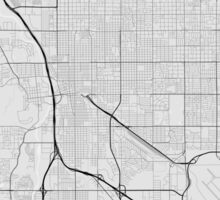 Tucson, USA Map. (Black on white) Sticker