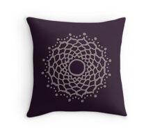 Crown chakra - warm grey Throw Pillow