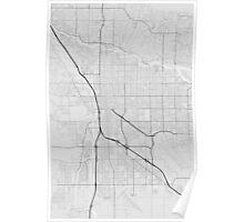 Tucson, USA Map. (Black on white) Poster