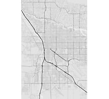 Tucson, USA Map. (Black on white) Photographic Print