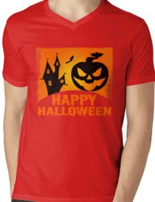 Happy Halloween Jack o'Lantern Pumpkin  Mens V-Neck T-Shirt