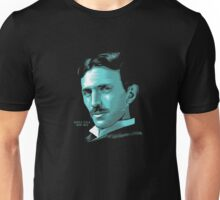 Nikola Tesla Portrait T Shirt - Science Electrical TShirt Unisex T-Shirt