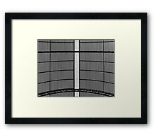 Metal Roof Black And White Abstract Framed Print