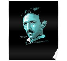 Nikola Tesla Portrait T Shirt - Science Electrical TShirt Poster