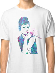 Audrey Hepburn Watercolor Pop Art  Classic T-Shirt