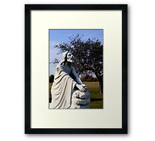 Jesus Kneeling In Prayer Framed Print