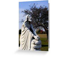 Jesus Kneeling In Prayer Greeting Card