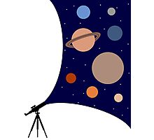 A Telescopes Sight Photographic Print