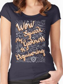 Wow. Squeak. Women's Fitted Scoop T-Shirt