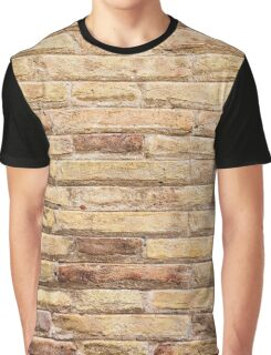 Brick Wall Texture Graphic T-Shirt