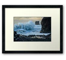 Rough Seas off Iceland Framed Print