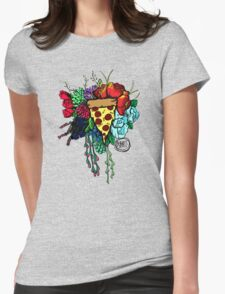 Bouquet fit for me:Pizza Womens Fitted T-Shirt