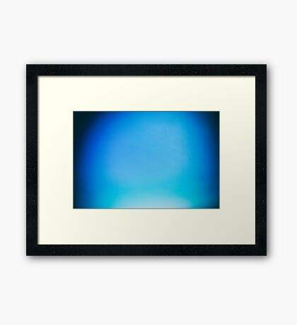 Blue Clear Sky Abstract With Copyspace Framed Print