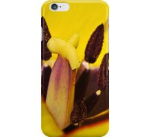 Macro red edged Picotee yellow Tulip iPhone Case/Skin