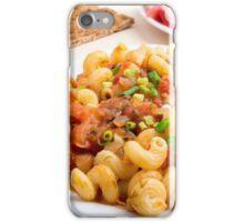 Cooked pasta cavatappi closeup iPhone Case/Skin