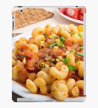 Cooked pasta cavatappi closeup iPad Case/Skin